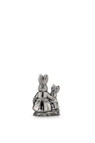 Decoratiune Rabbit Mom with Child, Hermann Bauer,11x4.8x16 cm, argintiu