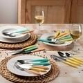 Set tacamuri Grancucina Giallo, Tognana Porcellane, 24 de piese, inox, galben