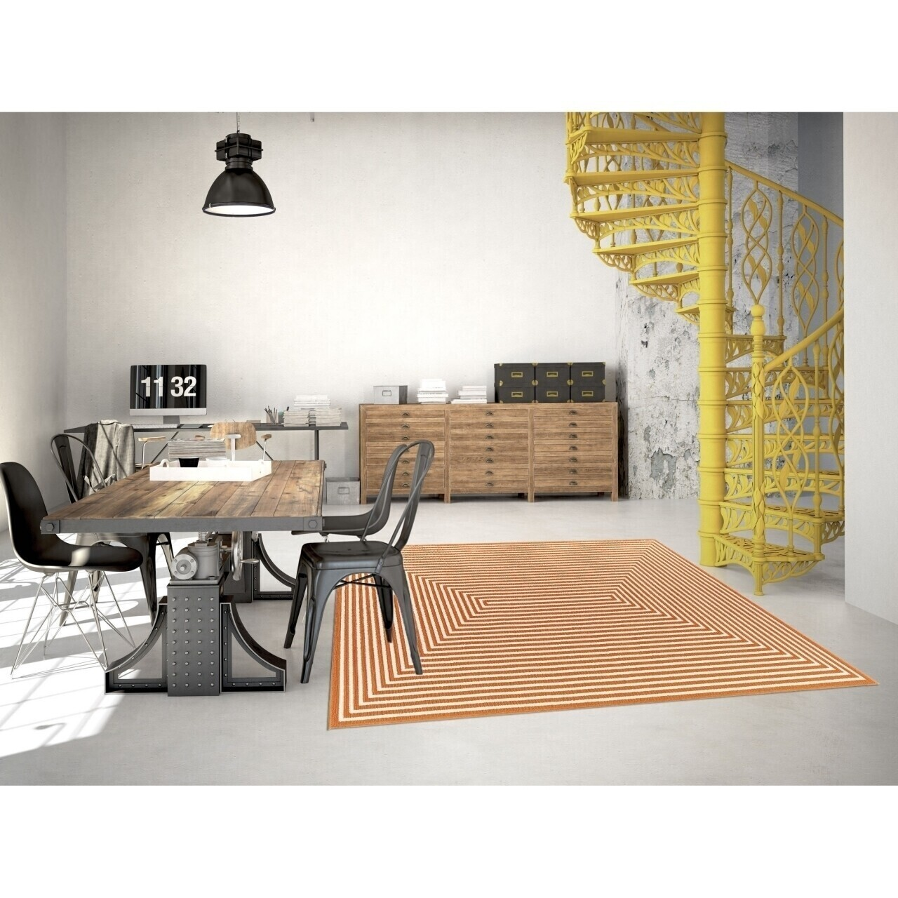 Covor indoor outdoor Floorita BRAID ORANGE 160X230