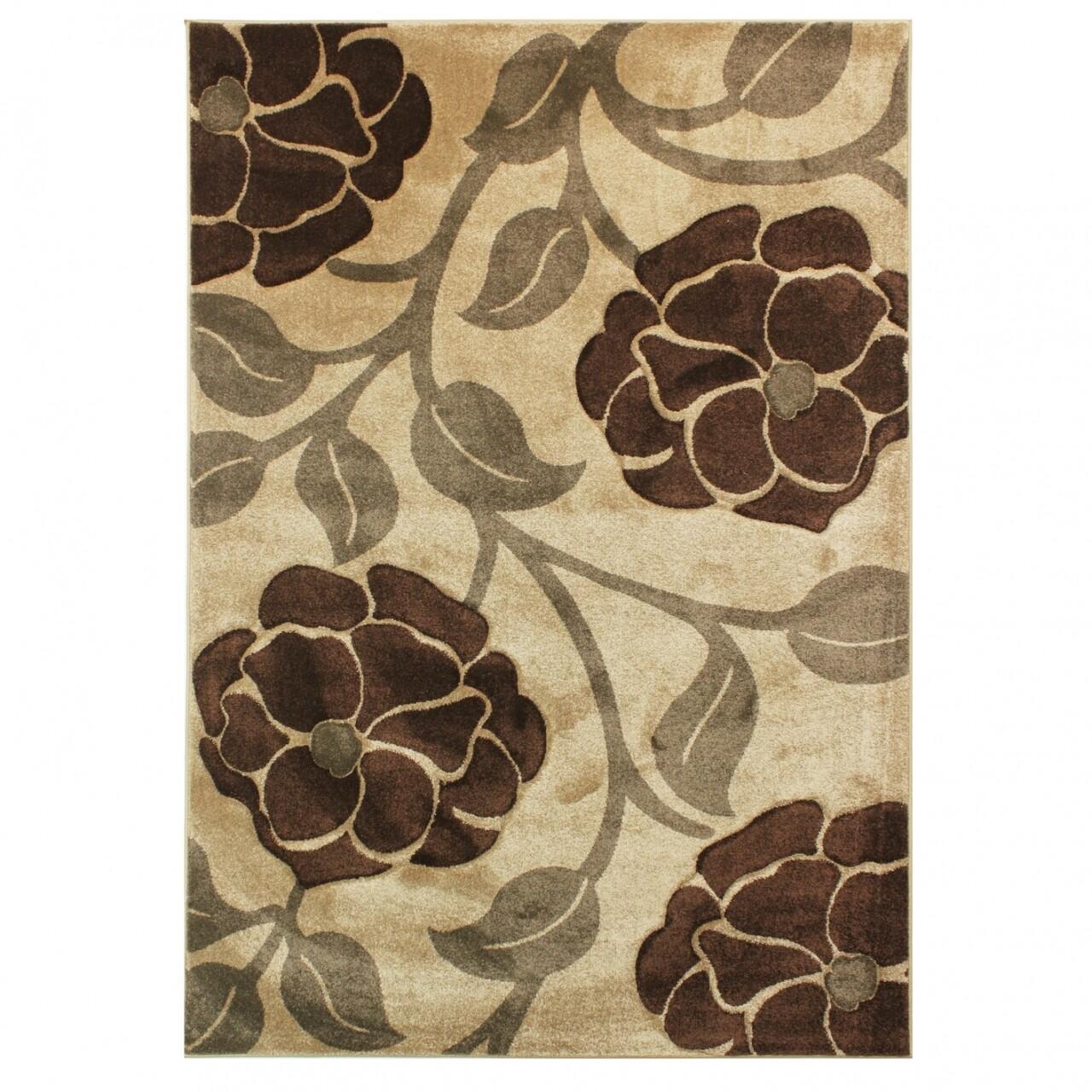Covor Vine, Flair Rugs, 80 x 150 cm, 100% polipropilena, bej/maro
