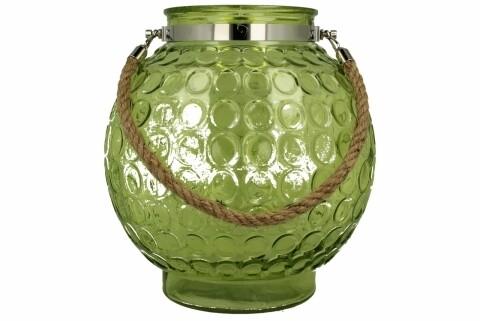 Felinar Okragly, Duo, sticla, verde