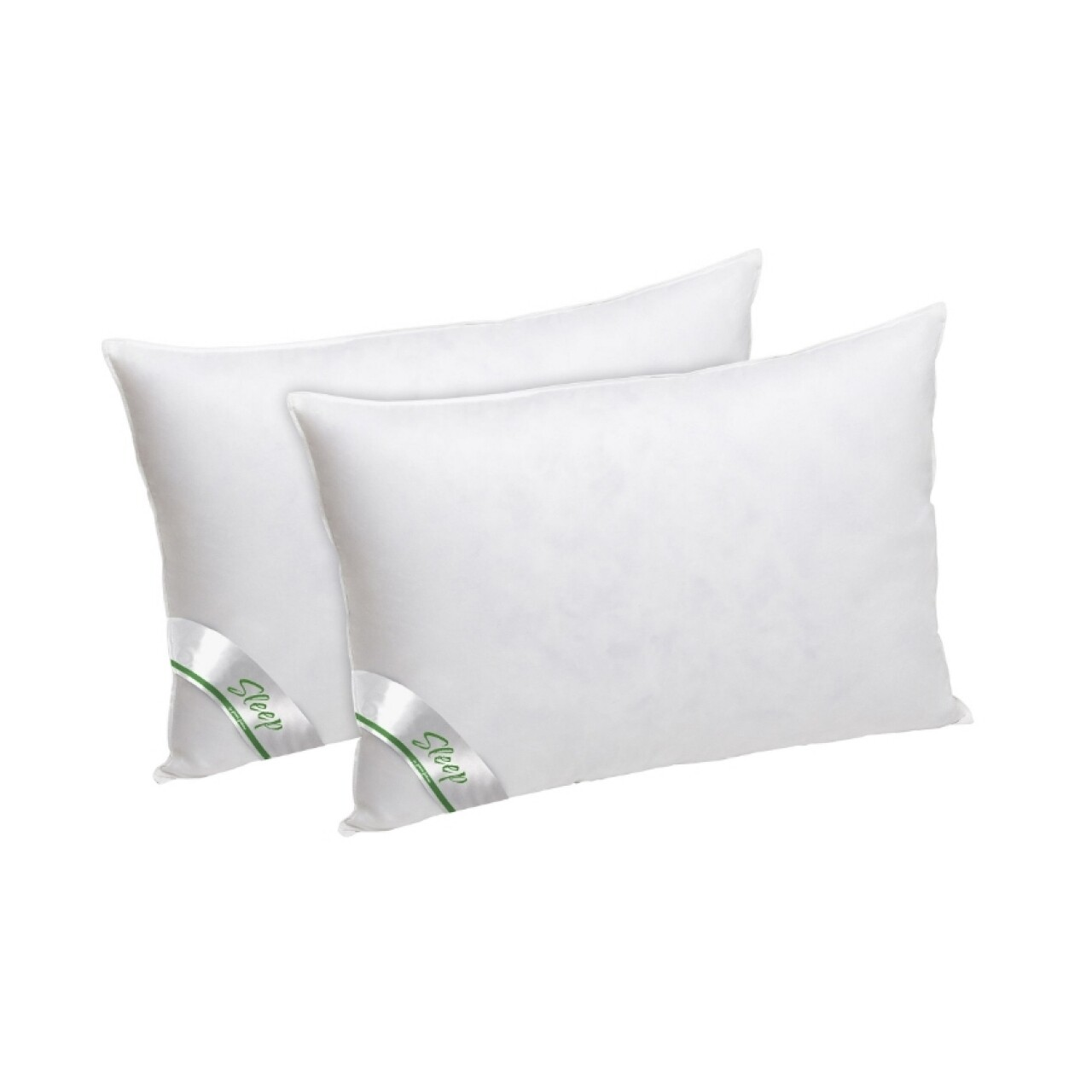 Set 2 perne Green Future sleep puf si pana de gasca, bumbac 100%, 50x70 cm
