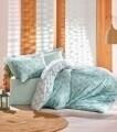 Lenjerie de pat pentru o persoana, 3 piese, 100% bumbac ranforce, Cotton Box, Sole