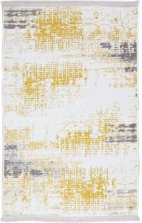 Covor Eko rezistent, NK 01 - Yellow, Grey, 100% poliester,  75 x 150 cm