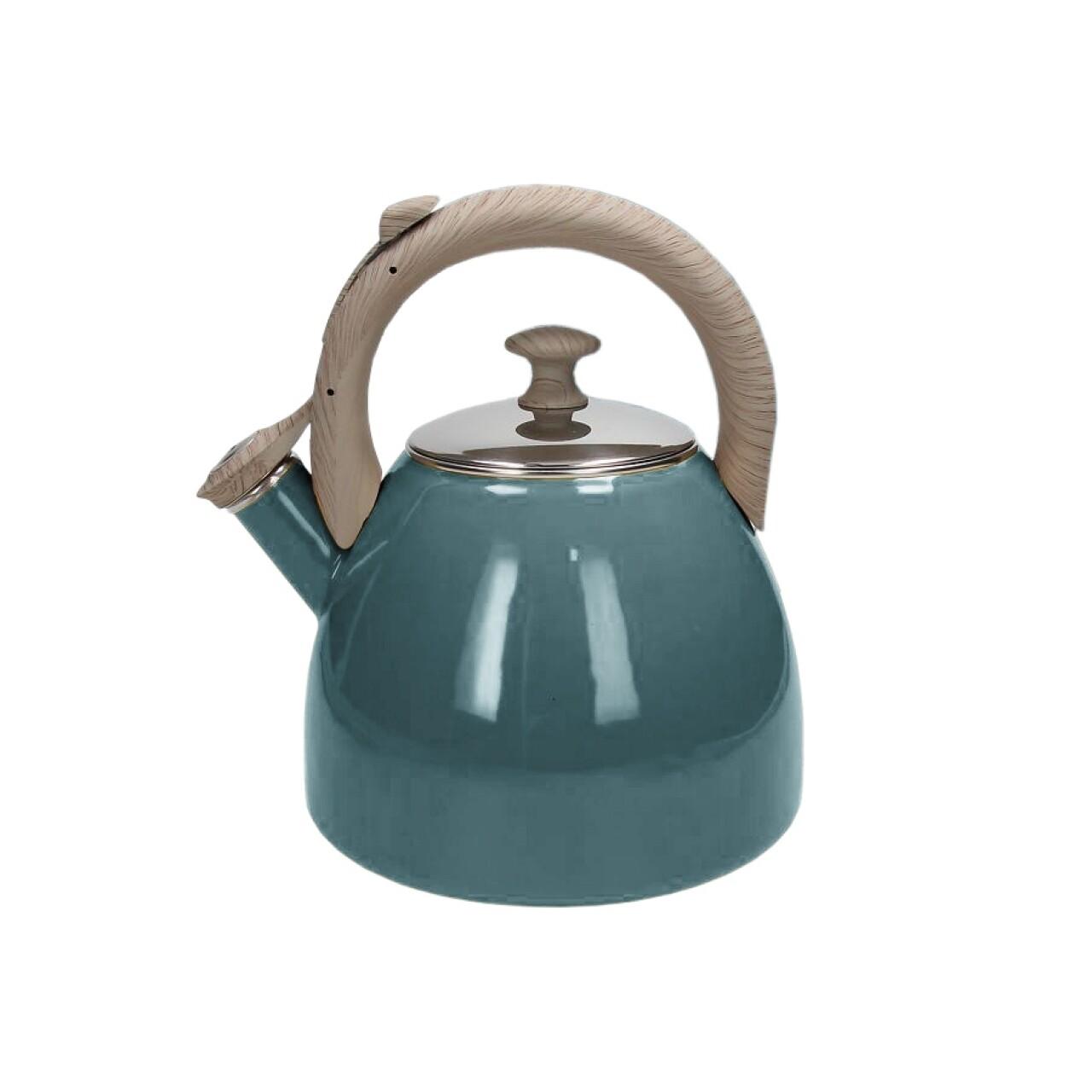 Ceainic Vintage, Tognana Porcellane, 2.5 l, inox, albastru