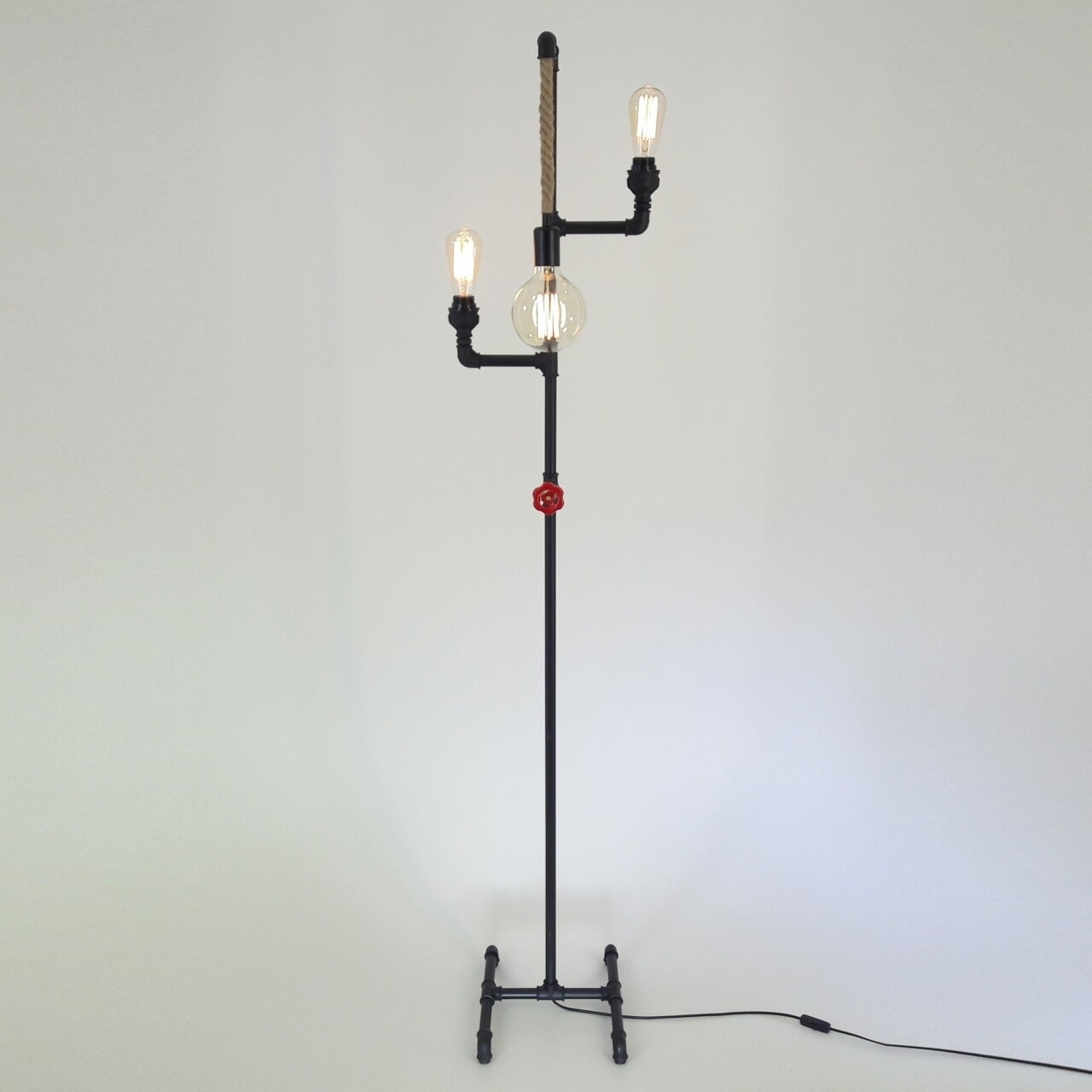 Lampadar All Design, metal, 170x36 cm, Black