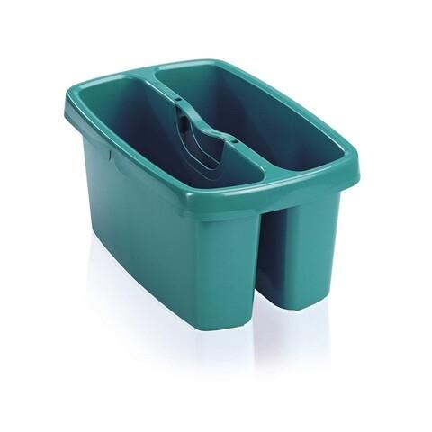 Galeata cu 2 compartimente Combi Box, Leifheit, 2.5 L, plastic, verde