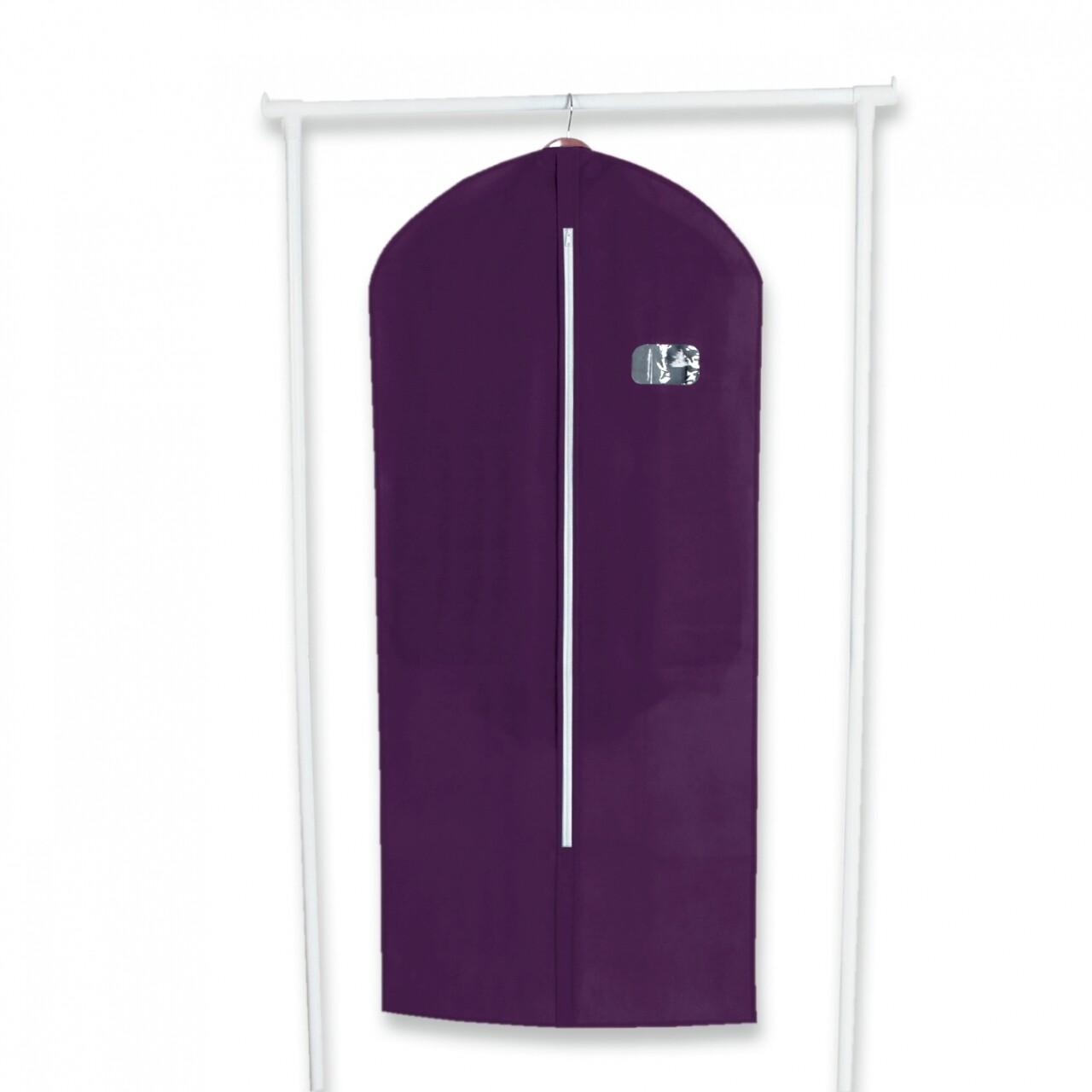 Husa pentru haine Purple, Jocca, 60x136 cm, polipropilena, mov