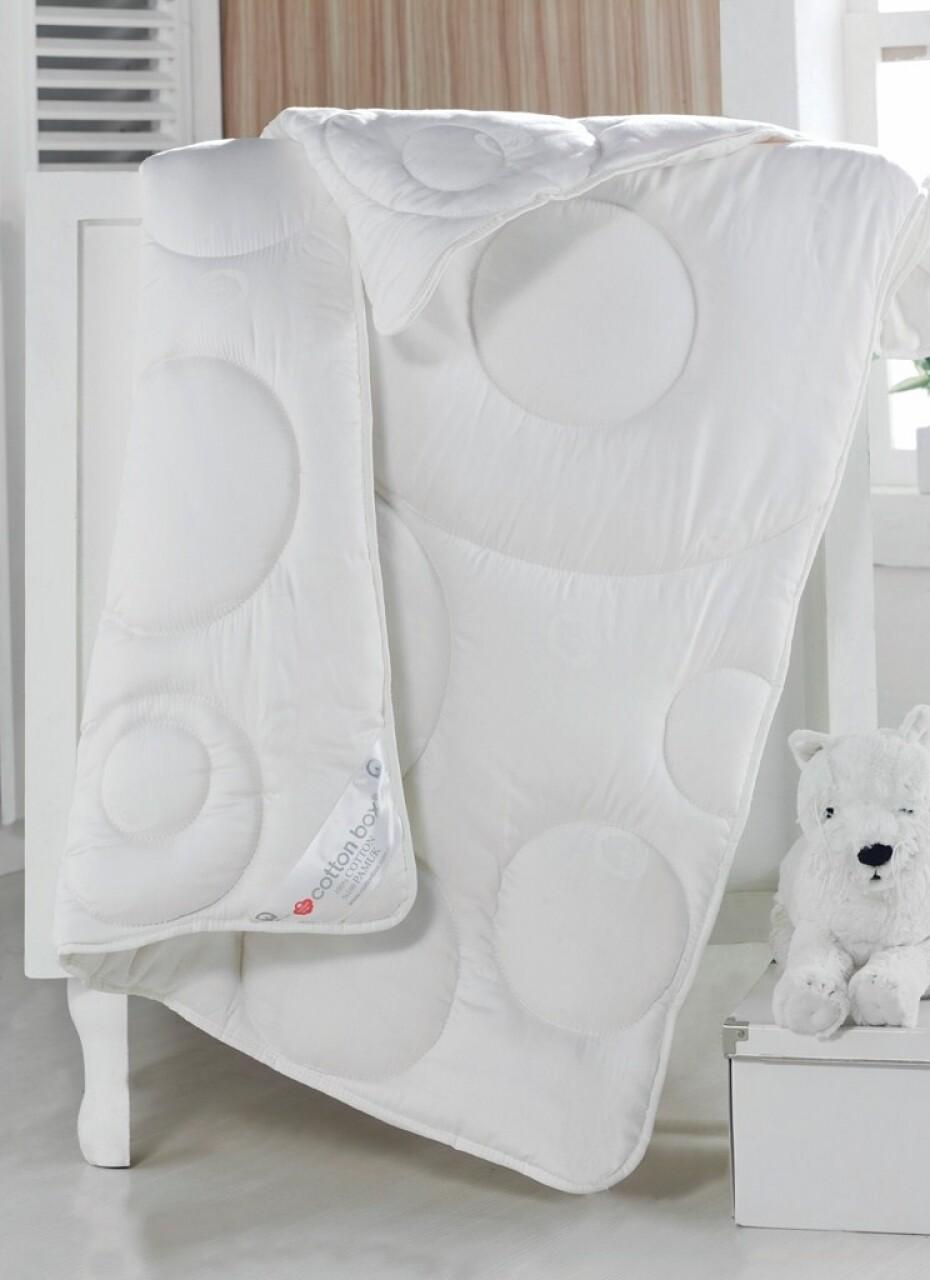Pilota de pat pentru copii din 100% bumbac satinat, 95x145 cm, Cotton Box Kids, White