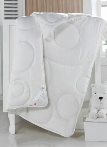 Pilota de pat pentru copii din 100% bumbac satinat, 95x145 cm, Cotton Box, White