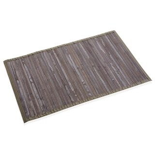 Covoras de baie Bambu Gris Ciaro, Versa, bambus, verso polipropilena, 50x80 cm