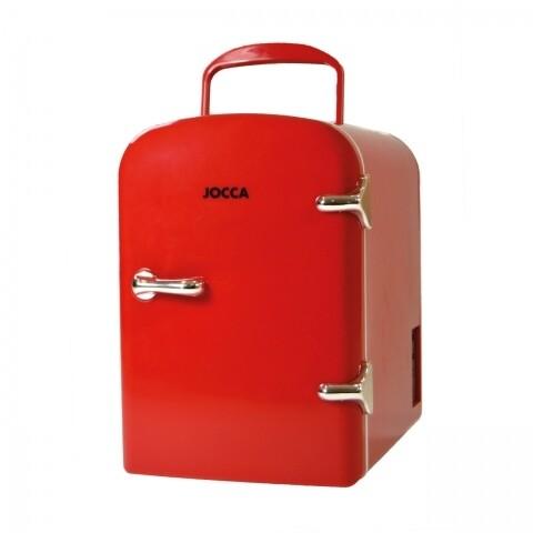 Mini frigider portabil Jocca, 4 L, rosu