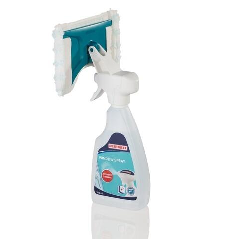 Spray de curatare 2 in 1 pentru ferestre Window Cleaner, Leifheit, plastic/microfibra