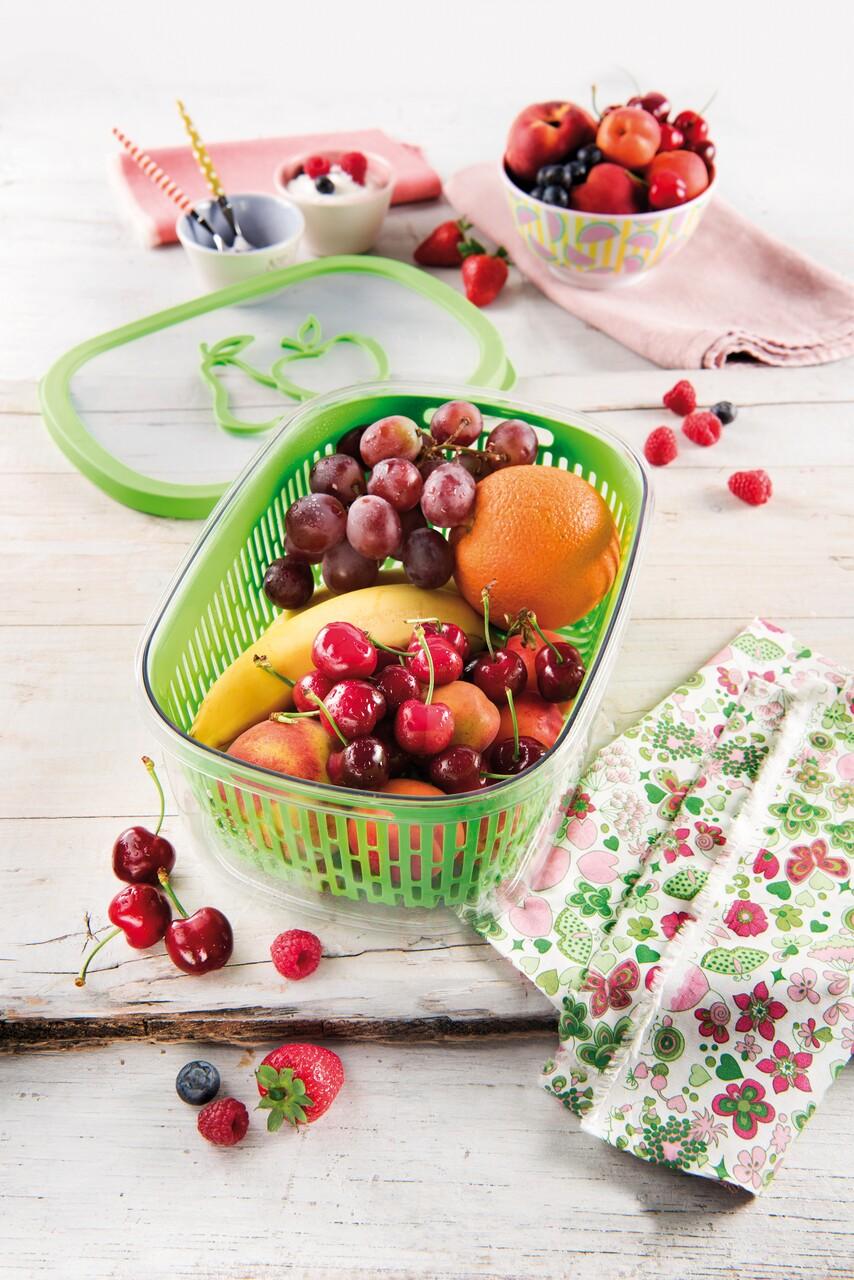Recipient depozitare fructe pentru pastrarea aromei, Snips, Aroma Keeper, 4 L, polipropilena, verde