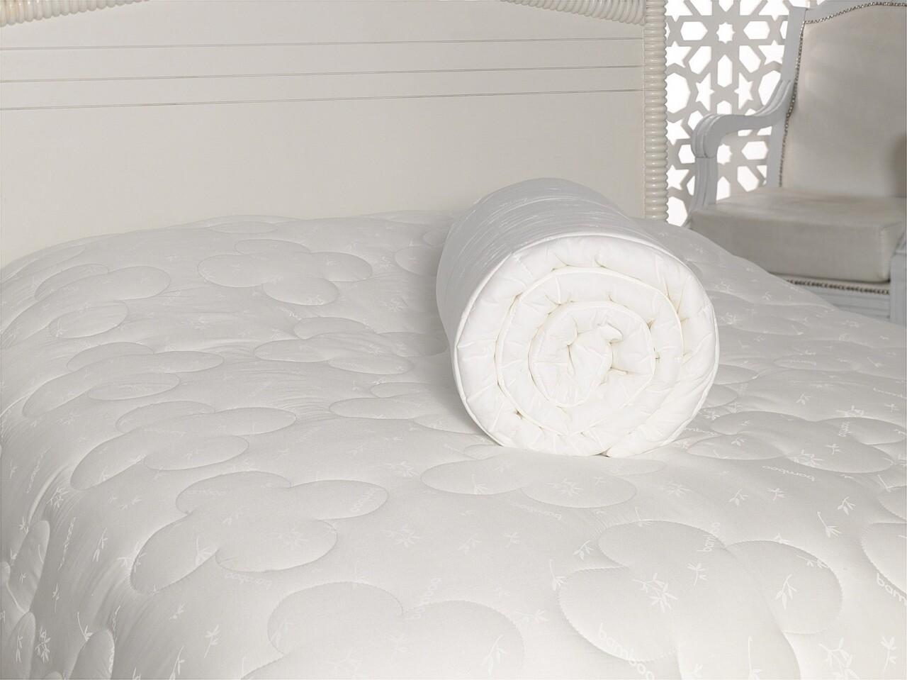 Patura pentru pat dublu din bumbac si acrylic, 155x215 cm, Cotton Box, alb