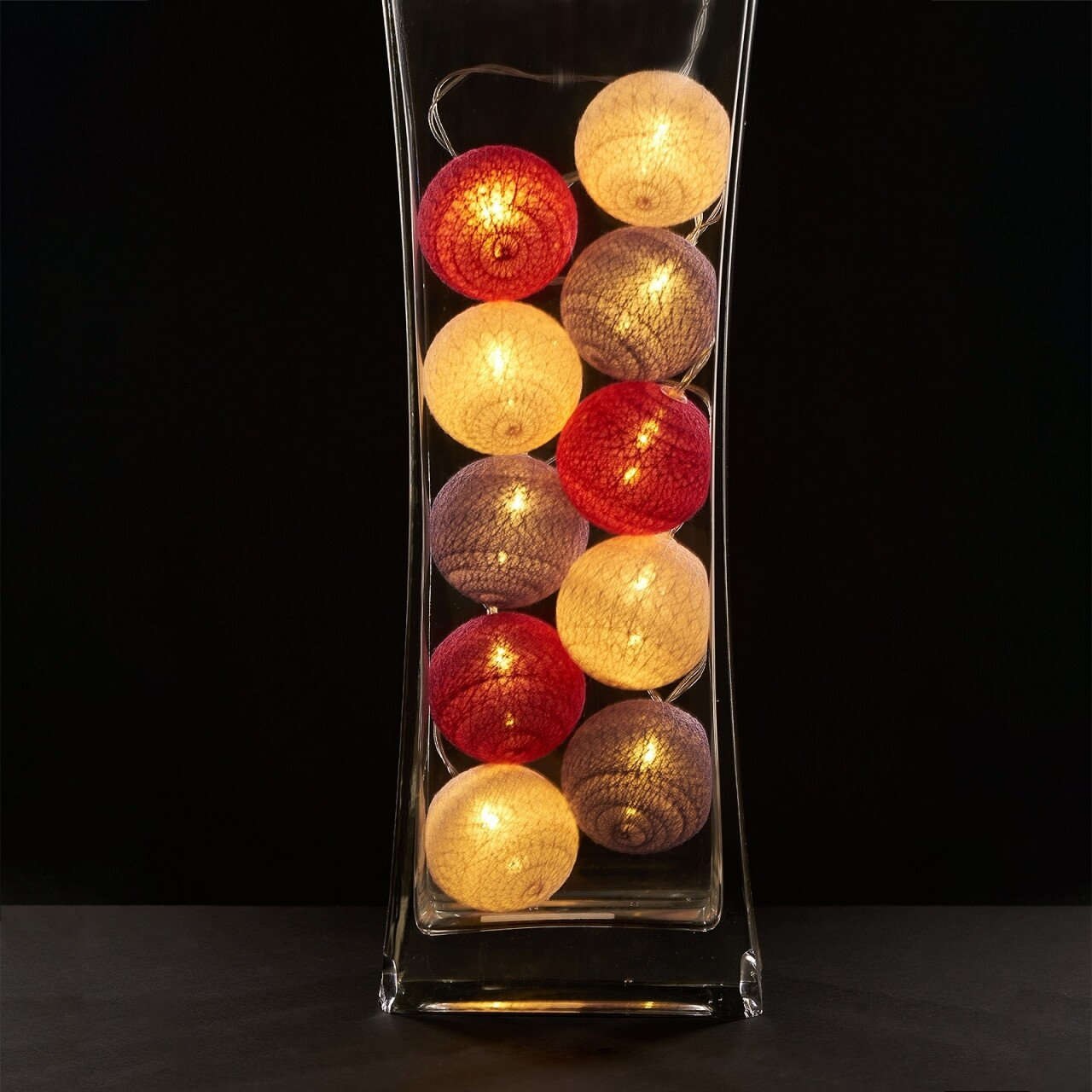 Ghirlanda luminoasa cu 10 LED-uri Colors, Heinner Home, 180 cm, plastic, alb/lila