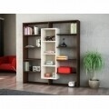 Biblioteca Wooden Art, Ample Wenge Birch, 125x135.7x22 cm