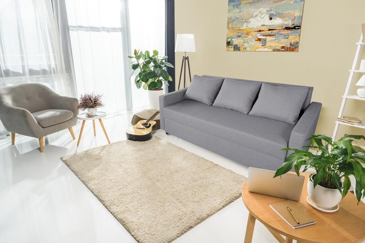Canapea extensibila Firenze Grey 218x85x85cm + ladă de depozitare, gri