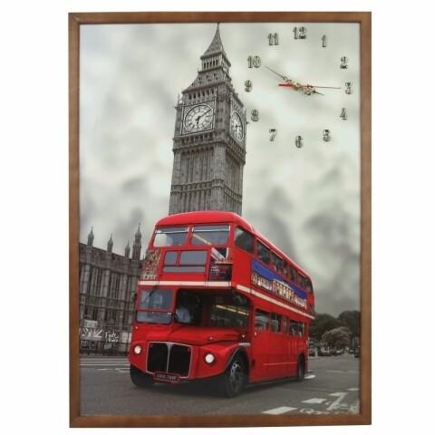 Tablou cu ceas 50x70 cm, Heinner Home, London