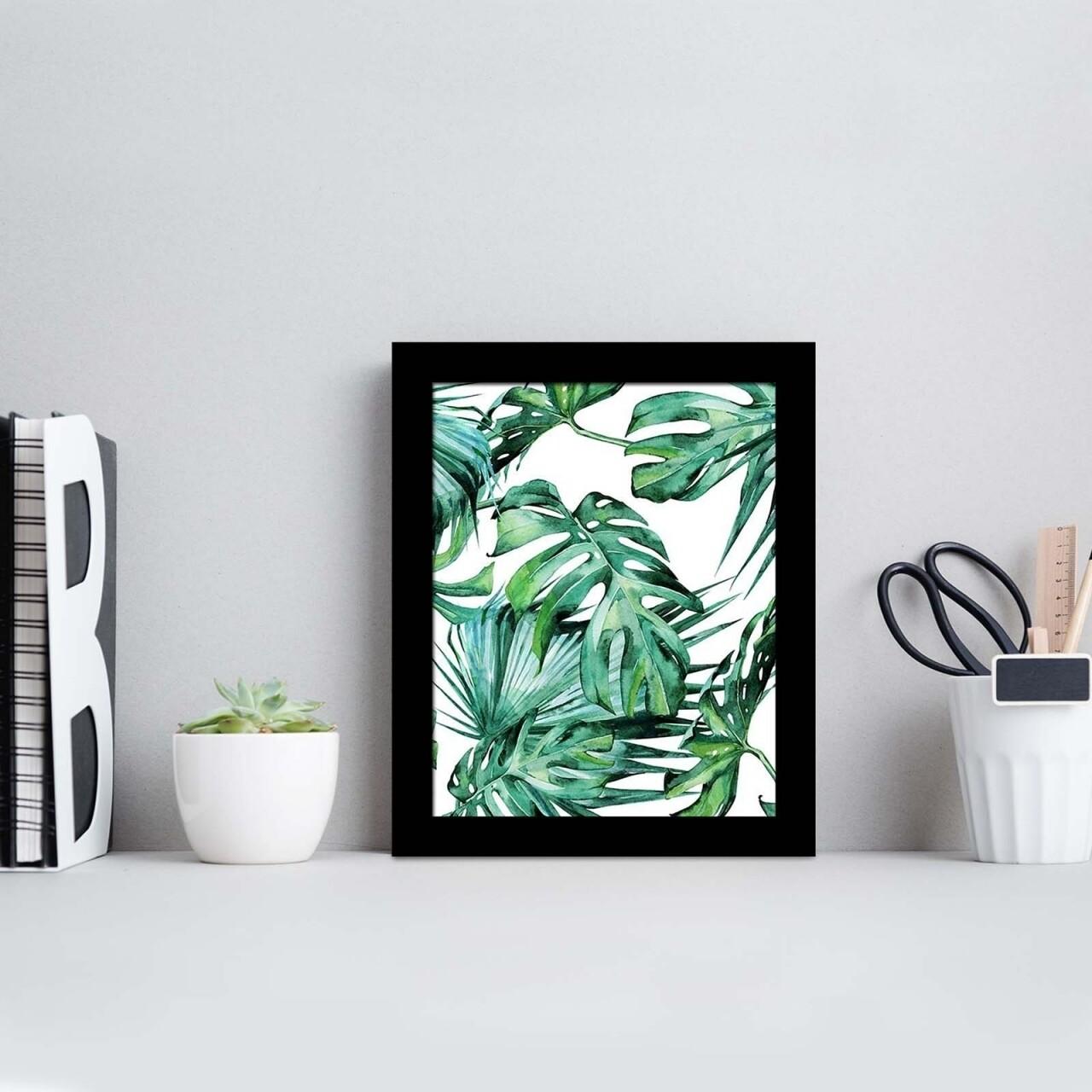 Tablou decorativ, Alpha Wall, Green Leaves, 23x28 cm