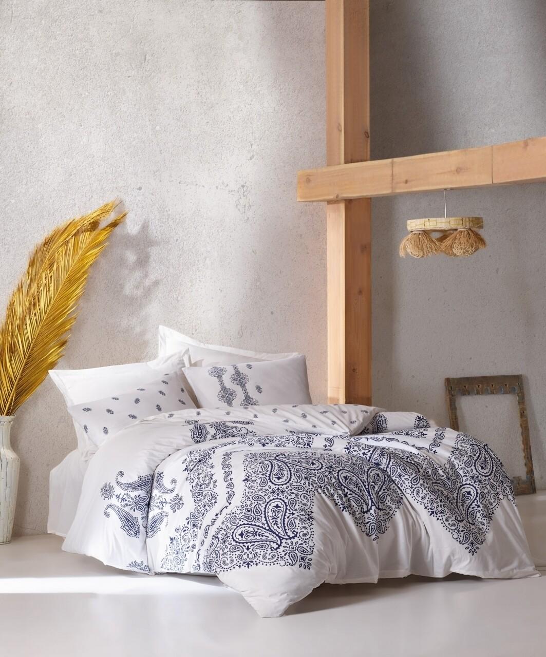 Lenjerie de pat pentru o persoana, 3 piese, 100% bumbac ranforce, Cotton Box, Adonis