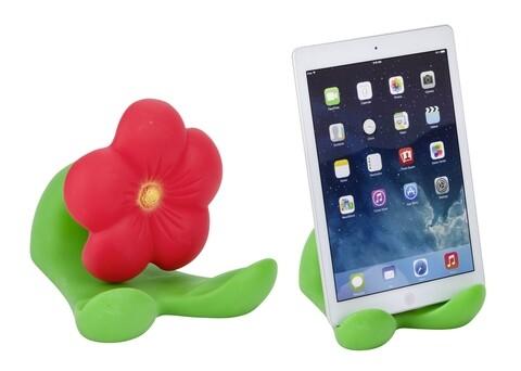 Suport pentru tableta, Wenko, Fun Flower, 15.5 x 14.5 x 17.5 cm, plastic