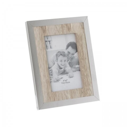 Rama foto Natural, InArt, 14 x 3 x 19 cm, lemn, bej/maro/verde pastel