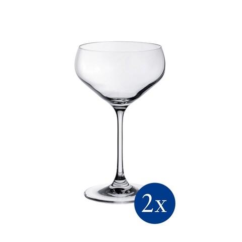 Set 2 pahare sampanie, Villeroy & Boch, Purismo Bar Champagne, 380 ml, sticla cristal