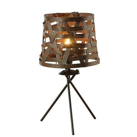 Veioza Aca Lighting, Vintage Brown Twine, E14, 40W