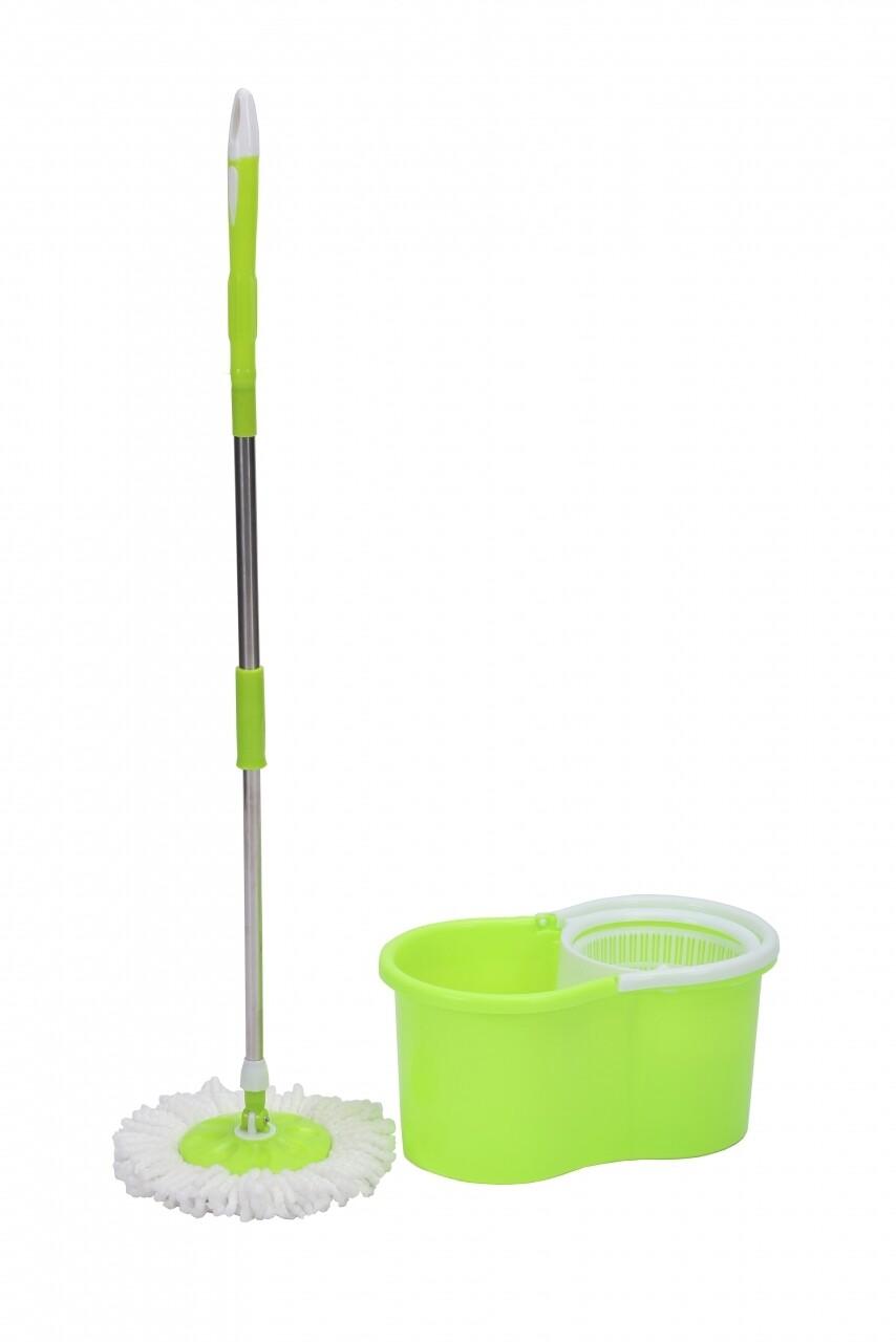 Galeata cu mop rotativ Primo Green, Vanora, 12 L, alb/verde