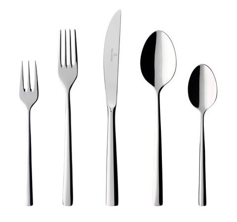 Set tacamuri 30 piese, Villeroy & Boch, Piemont Cutlery, inox