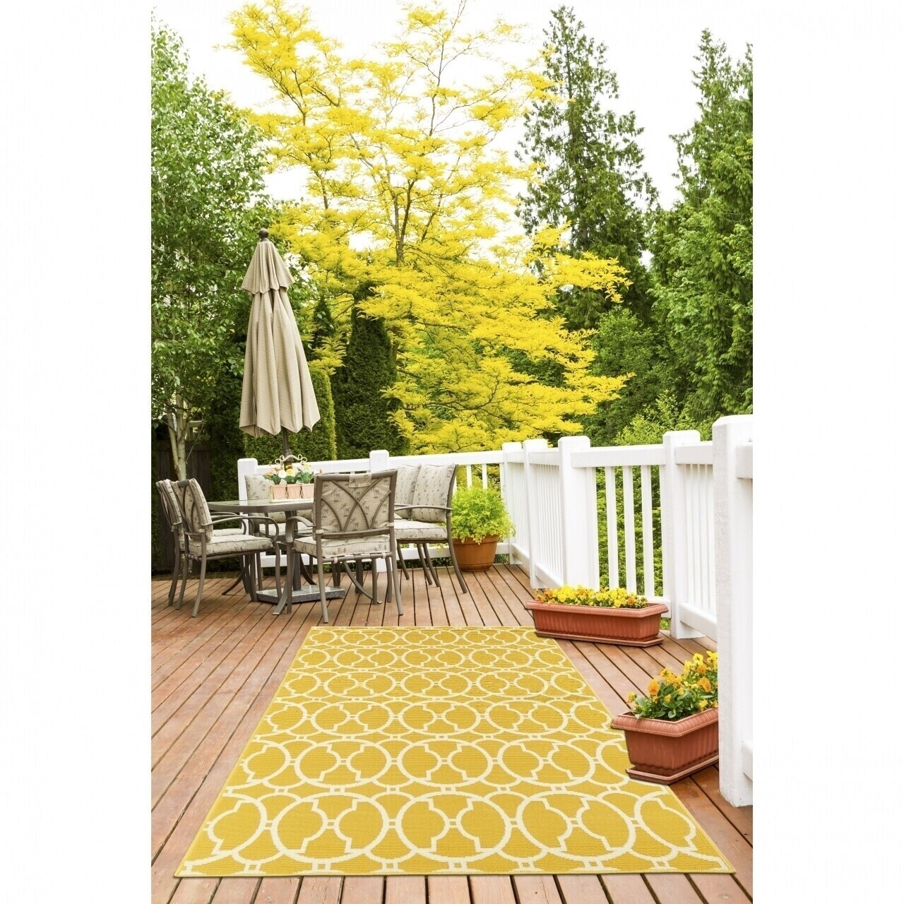 Covor indoor outdoor Floorita INTERLACED YELLOW 160X230