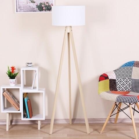 Lampadar Casa Parasio, 38x42x145 cm, 1 x E27, 60 W, alb/natural