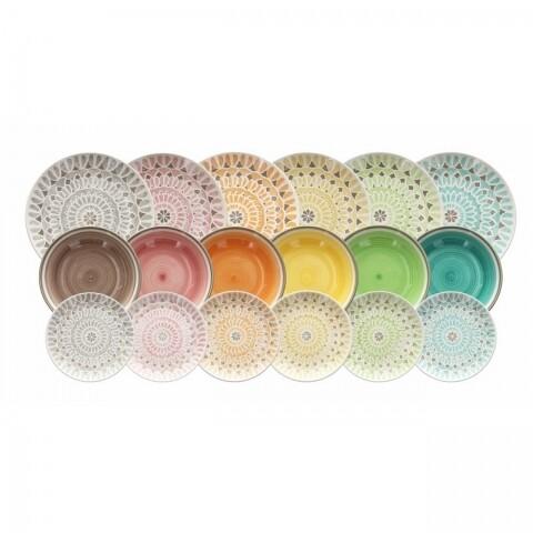 Set serviciu de masă din ceramică, 18 piese, Tognana, Capetown