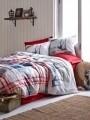 Lenjerie de pat pentru o persoana, 3 piese, 100% bumbac ranforce, Cotton Box, Alesta