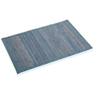 Covoras de baie Bambu Azul, Versa, bambus, verso polipropilena, 50x80 cm