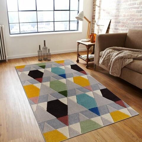 Covor Venice Bedora,100x200 cm, 100% lana, multicolor, finisat manual