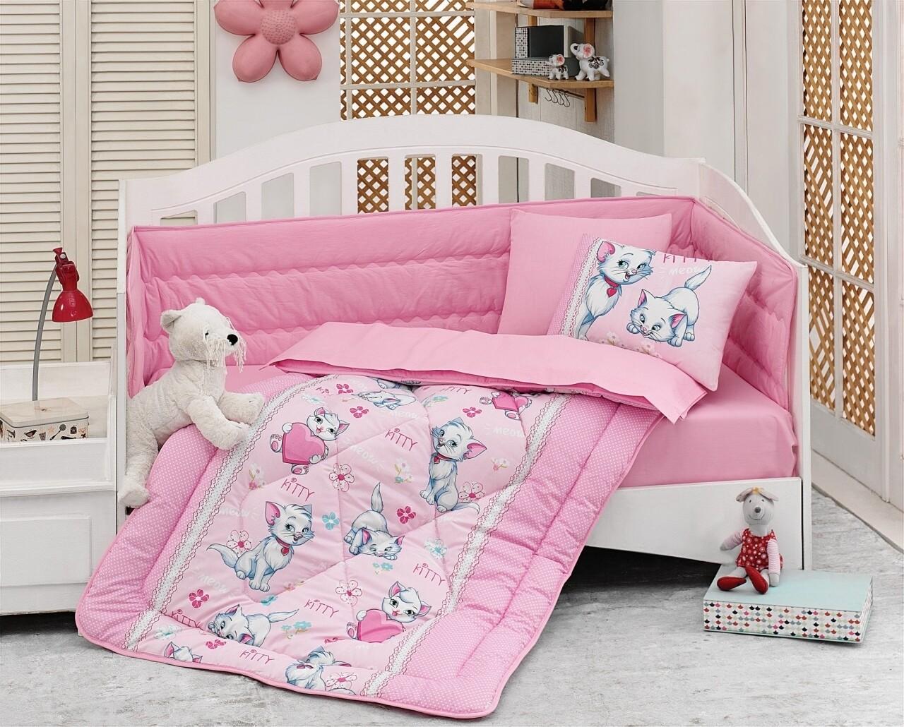 Set de pat pentru copii, 6 piese, 100% bumbac ranforce, Cotton Box, Miyav