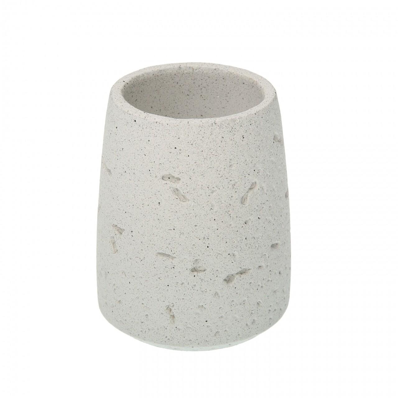 Suport periute de dinti Grand Sand, Versa,8.5 x 8.5 x 16 cm, polirasina, bej