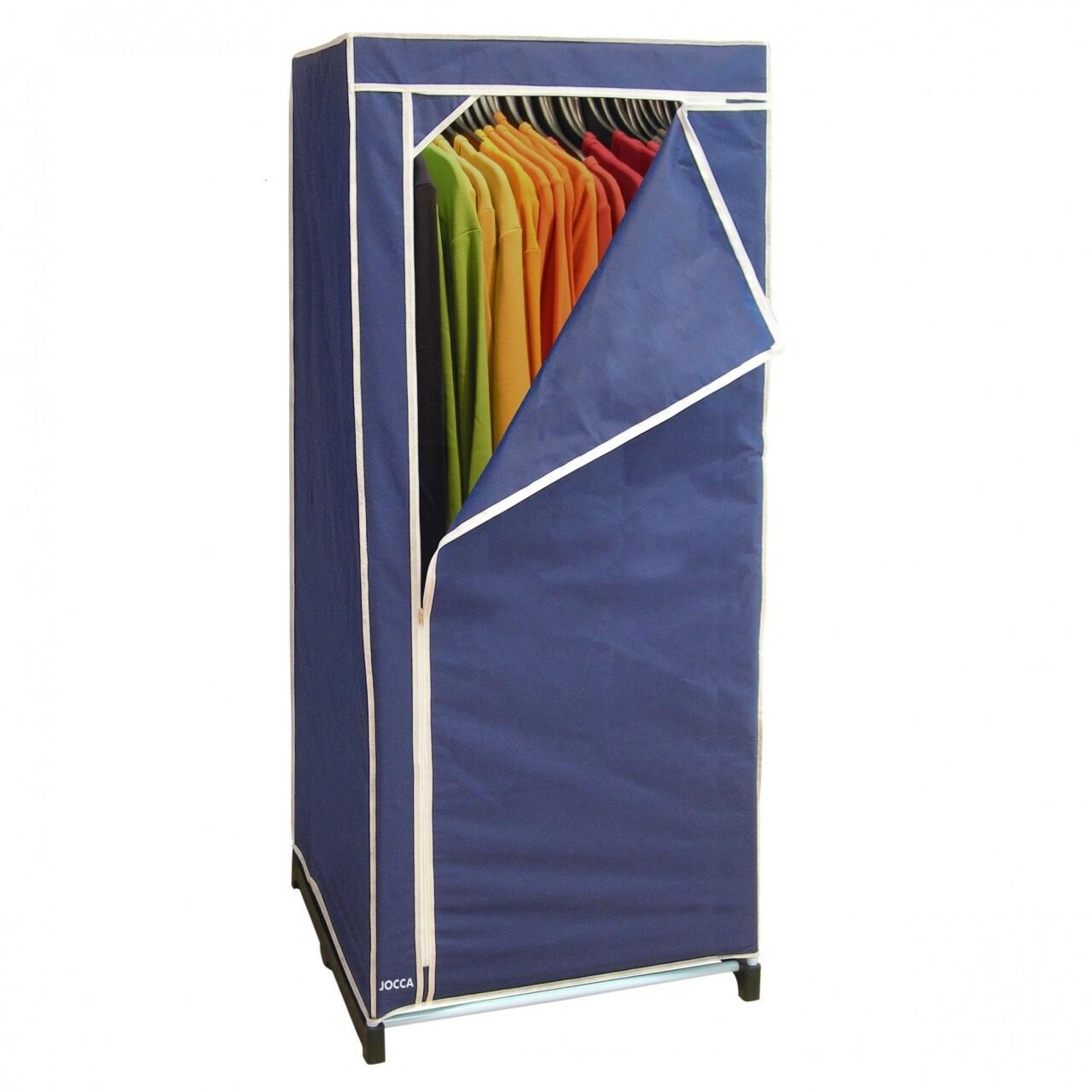 Dulap pentru haine, 60 x 45 x 148 cm, polipropilena/metal, bleu