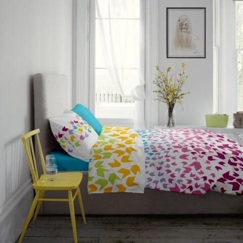 Lenjerie de pat dubla King Size Loving Matisse V.1 Aquarius, 4 piese, 220 x 250 cm, 100% bumbac, multicolora