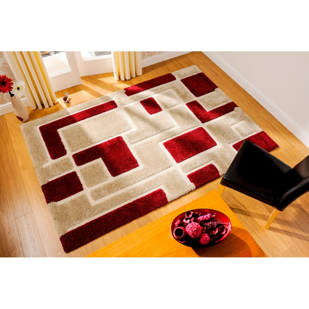 Covor Venice Imperial Red, Flair Rugs, 80 x 150 cm, 100% polipropilena Heatset, rosu/bej
