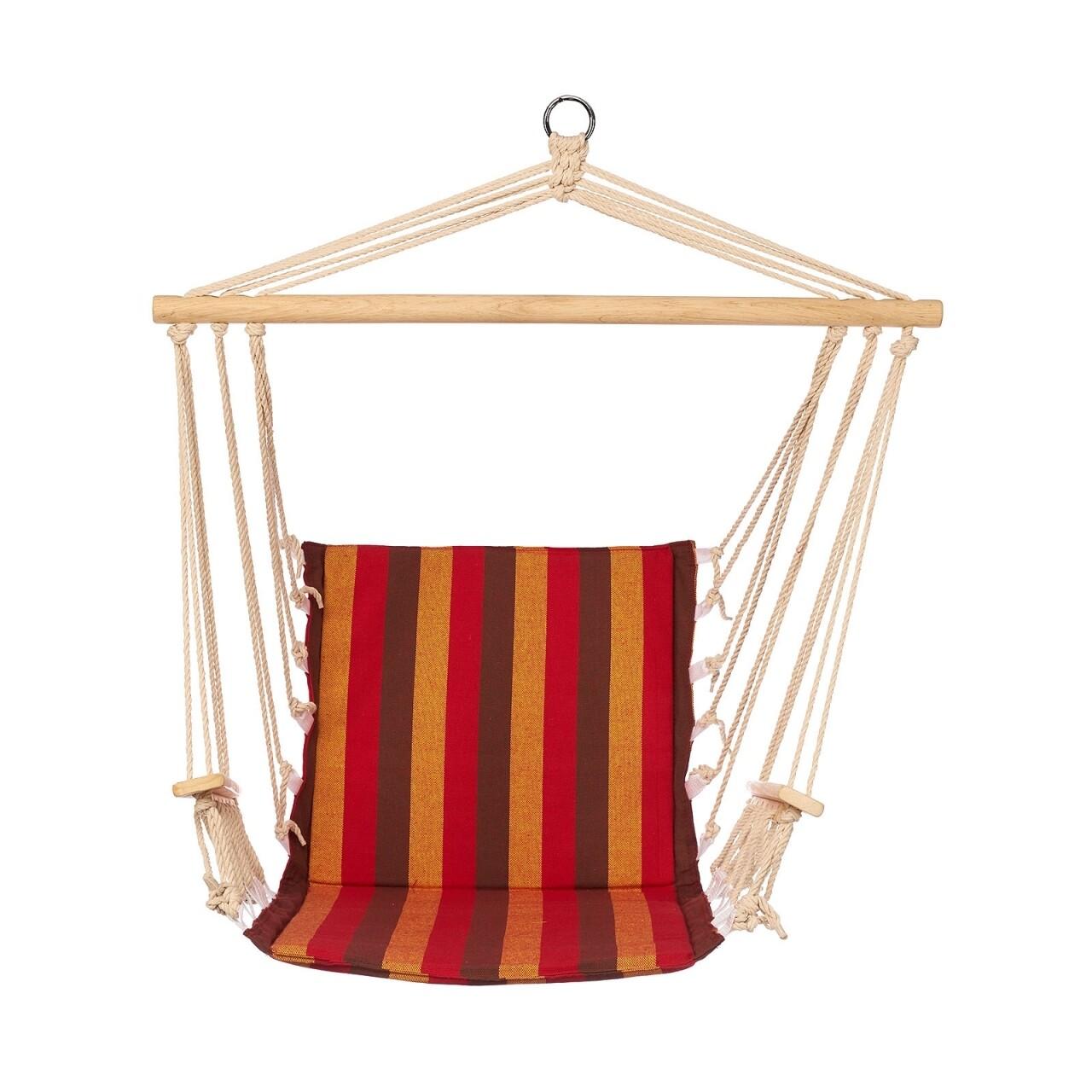 Hamac tip scaun Red & Brown, 86x52 cm, Heinner