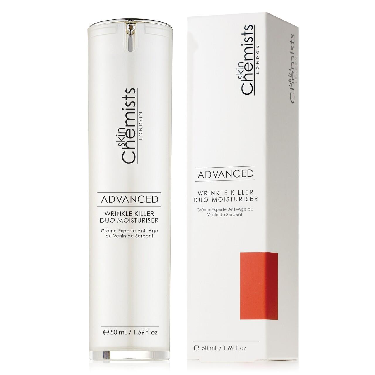 Crema hidratanta antirid, SkinChemists, Advanced Wrinkle Killer Duo, 50 ml