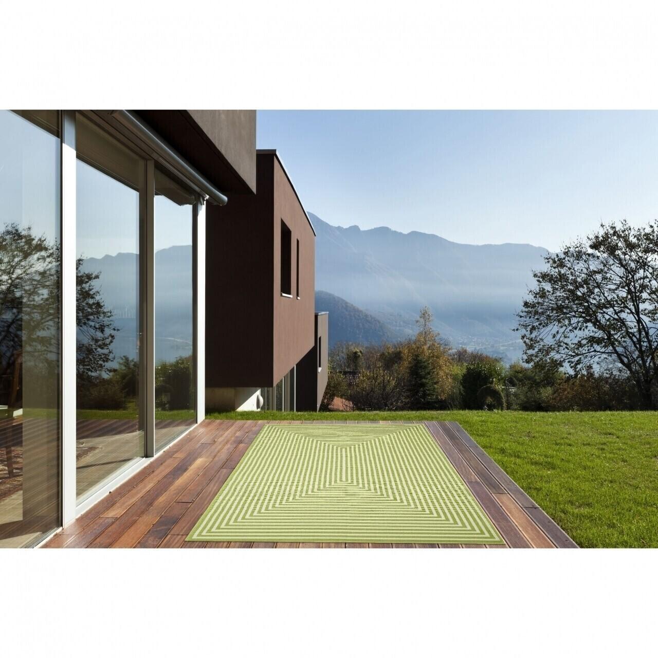 Covor indoor outdoor Floorita BRAID GREEN 200X285