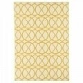 Covor indoor outdoor Interlaced Ivory, Floorita, 133 x 190 cm, polipropilena, crem/portocaliu
