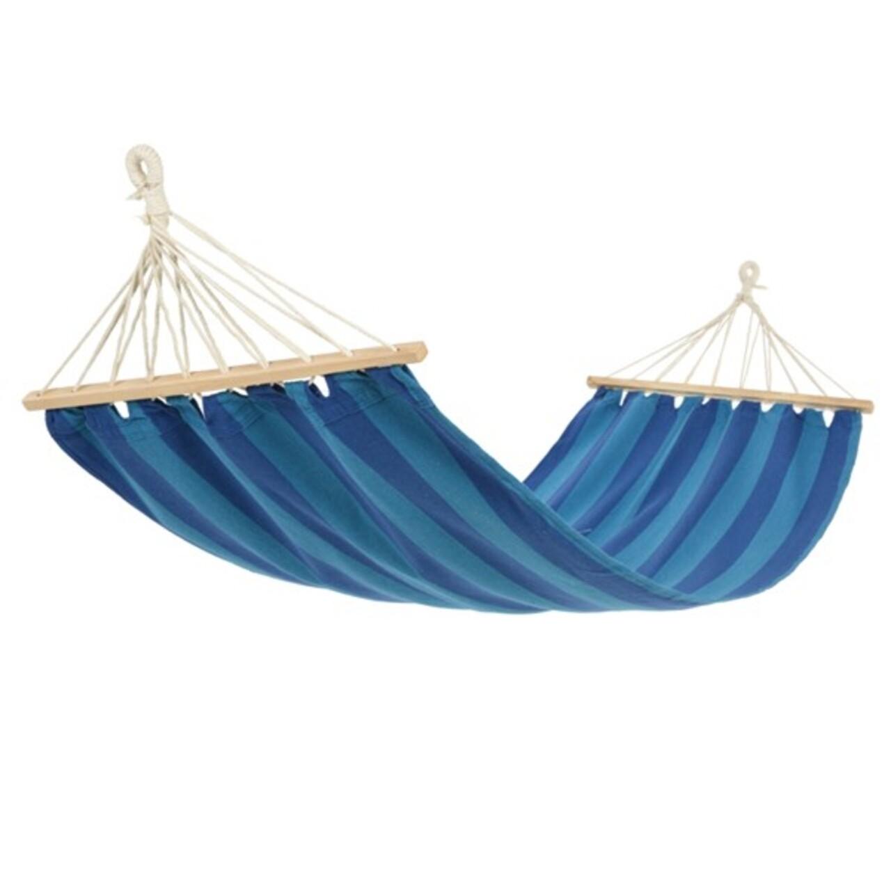 Hamac Stripes Blue, Decoris, 200x80 cm, albastru