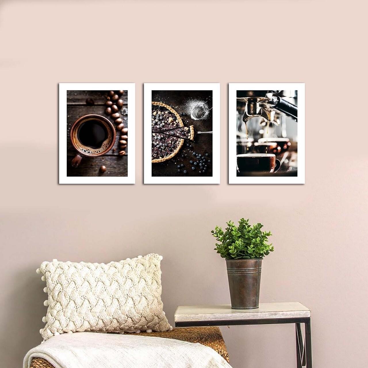Set 3 tablouri decorative, Alpha Wall, Good Time, 30x40 cm