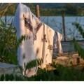 Prosop de baie si plaja Heron, Aglika, 70 x 140 cm, 70% bumbac, 30% microfibra, multicolor