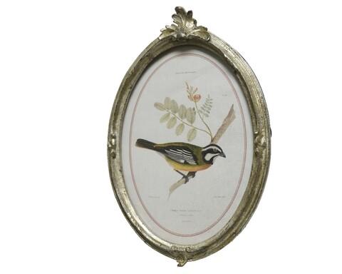 Rama foto Bird, Decoris, 21.8 x 14.3 cm, poliamida, auriu